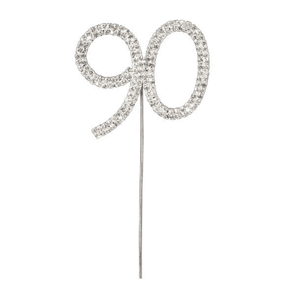 Diamante Number Cake Picks - 90