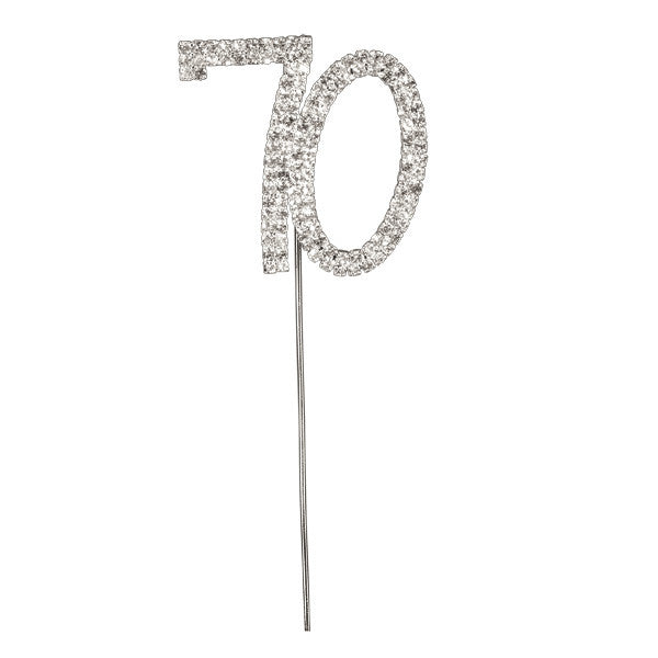 Diamante Number Cake Picks - 70