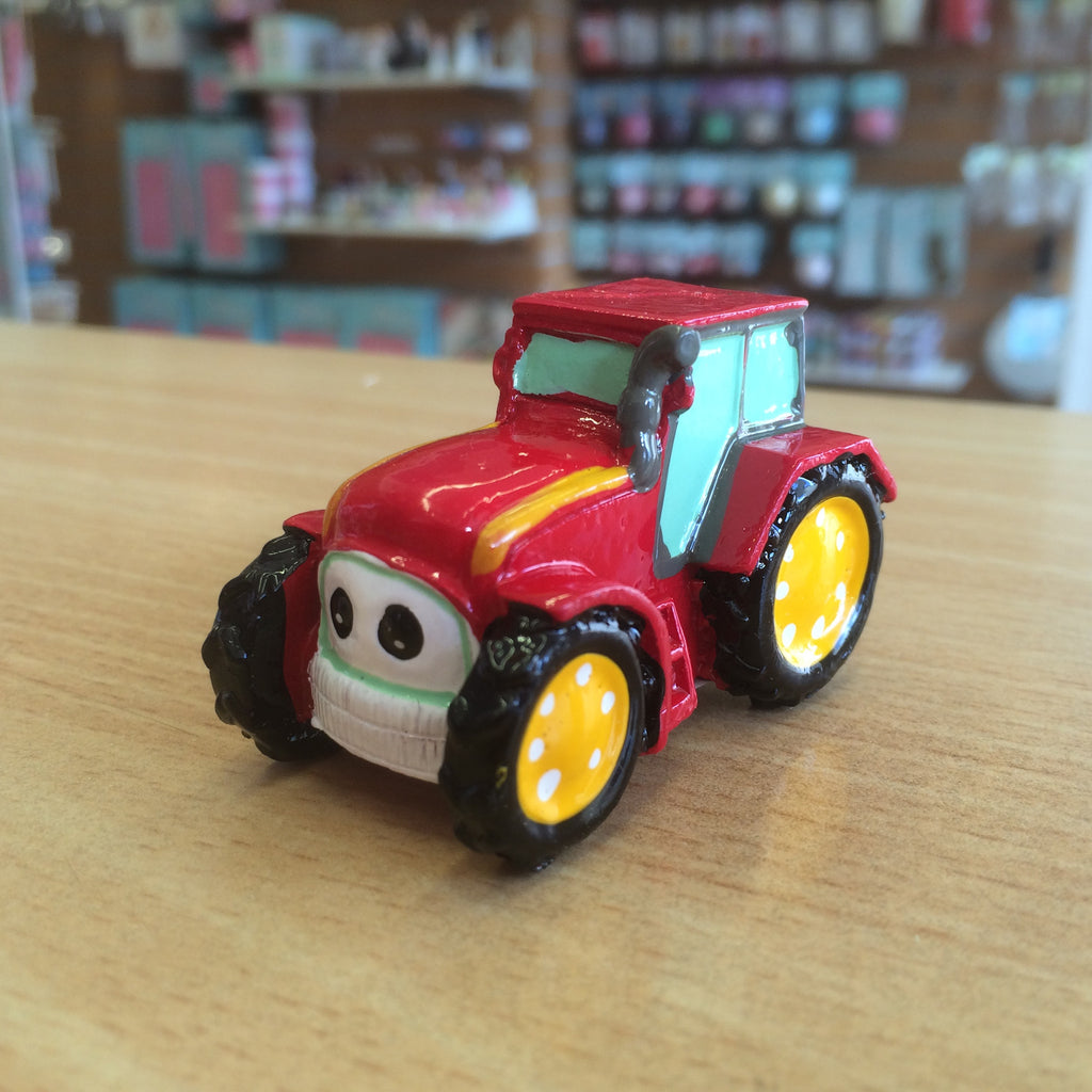 Resin Red Tractor Cake Topper