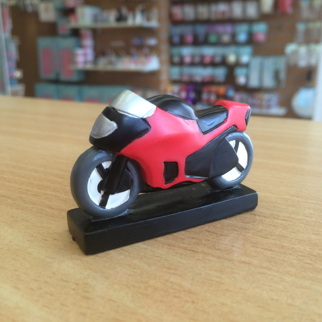 Resin Motorbike Cake Topper - Red