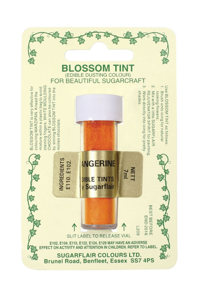 Sugarflair Blossom Tint Dusting Colours - Tangerine