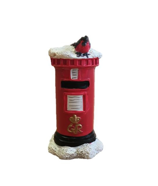 Traditional Post Box Christmas Cake Topper