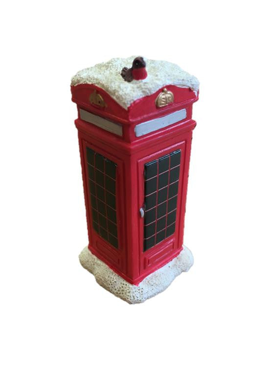 Traditional Telephone Box Christmas Cake Decoration