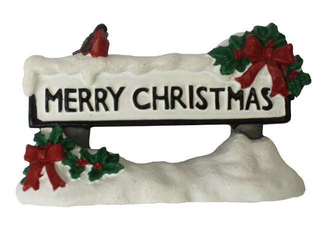 Merry Christmas Resin Street Sign