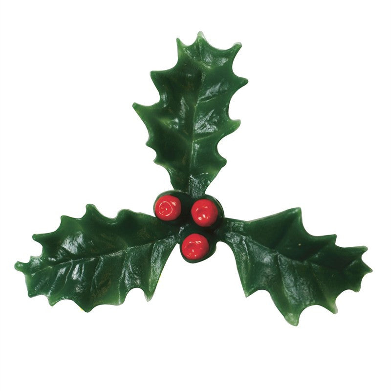 50mm Plastic Holly with Red Berry