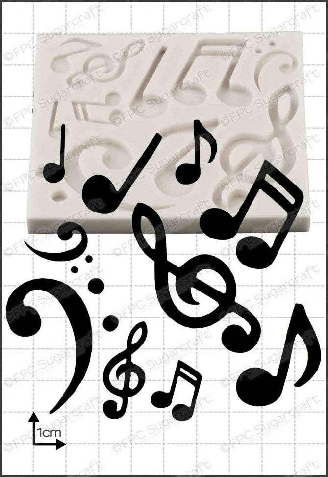 FPC 'Musical Notes' Silicone Mould
