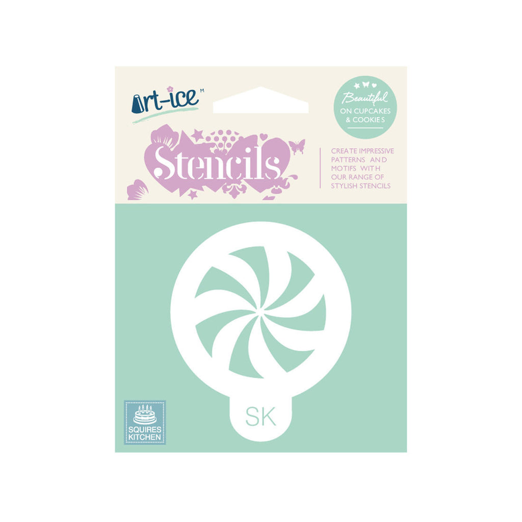 SK Art-ice Stencil Round Celebration Pinwheel
