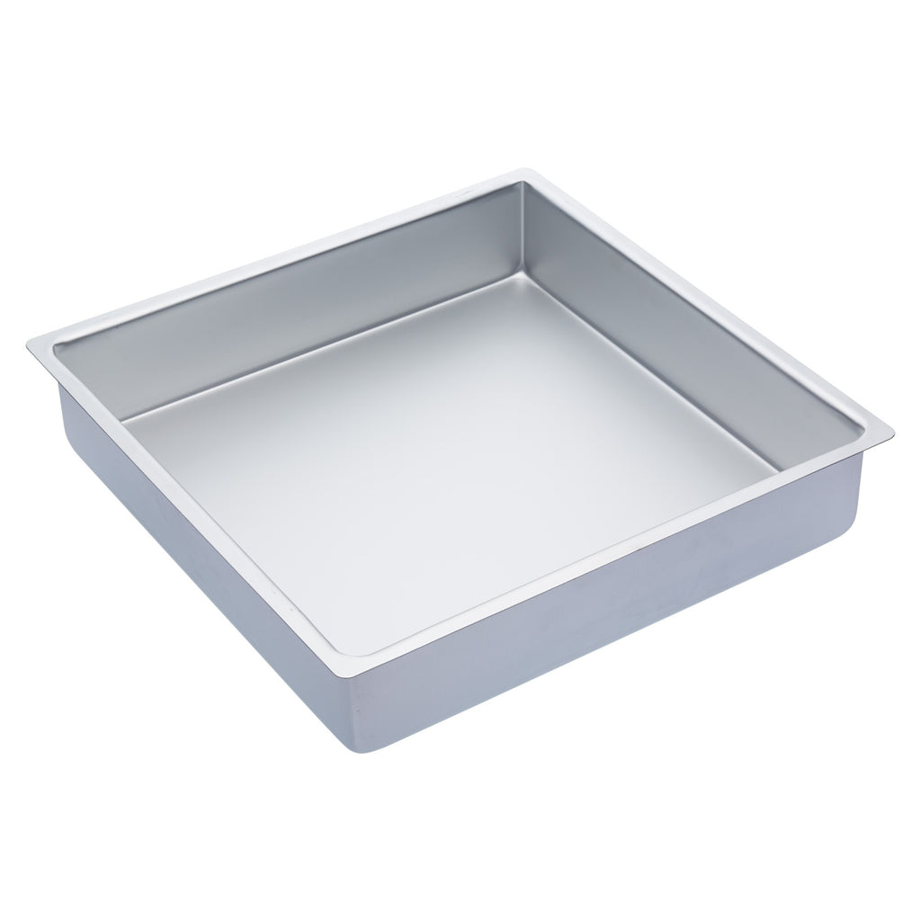 "Master Class Silver Anodised 35cm/14"" Square Deep Cake Pan"
