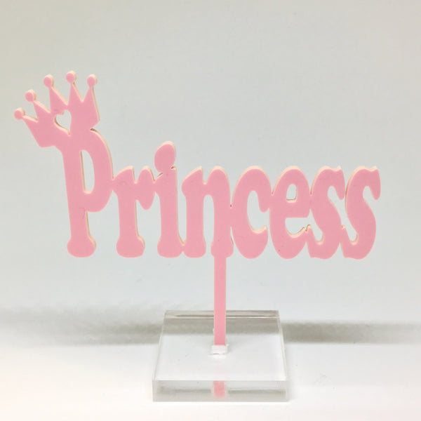 Princess Acrylic Cake Topper