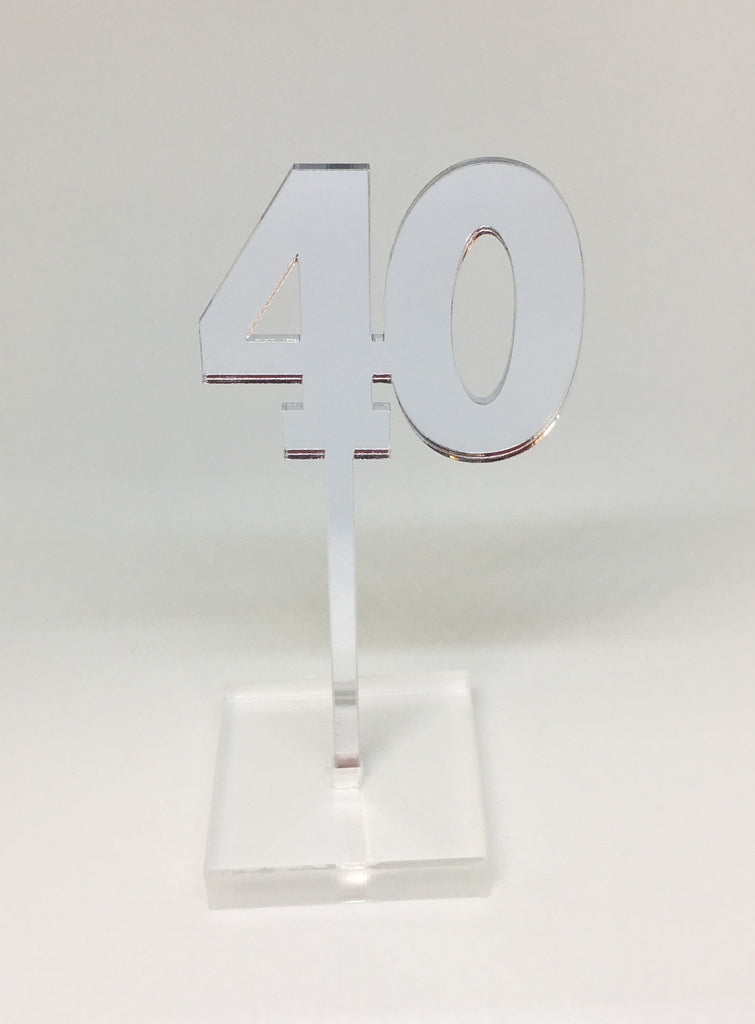 Number 40 Acrylic Cake Topper