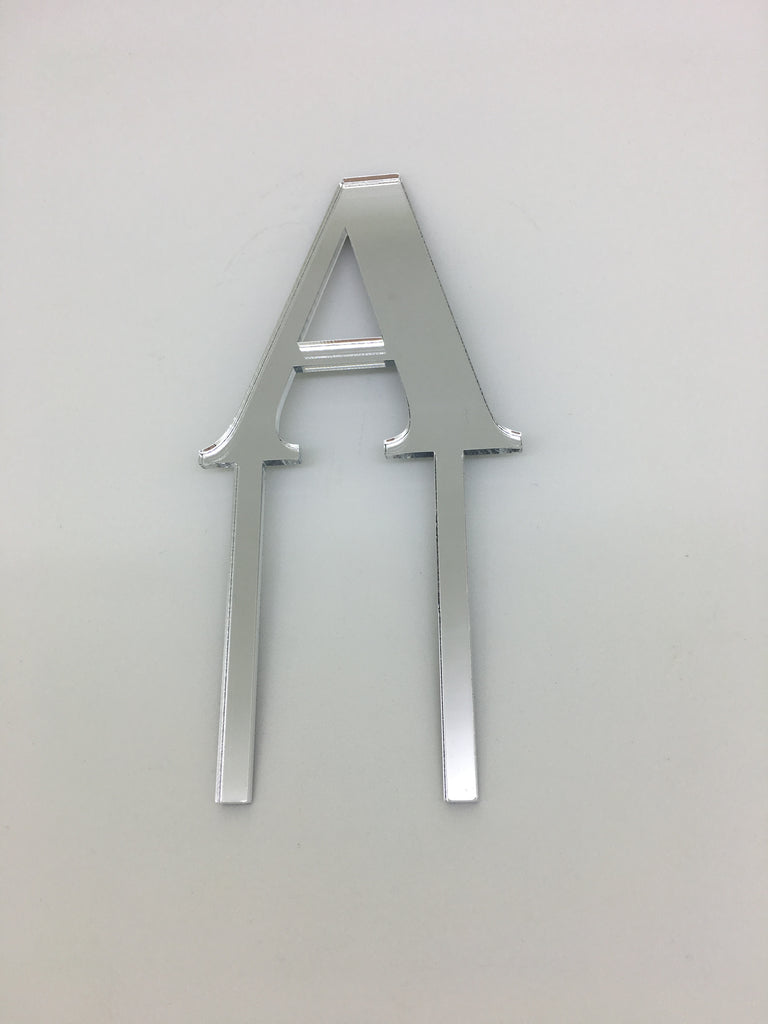 Individual Letter Acrylic Cake Toppers - A