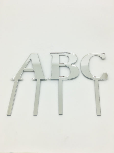 Individual Letter Acrylic Cake Toppers