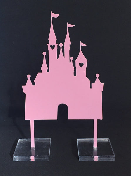 Fairytale Princess Castle Acrylic Cake Topper
