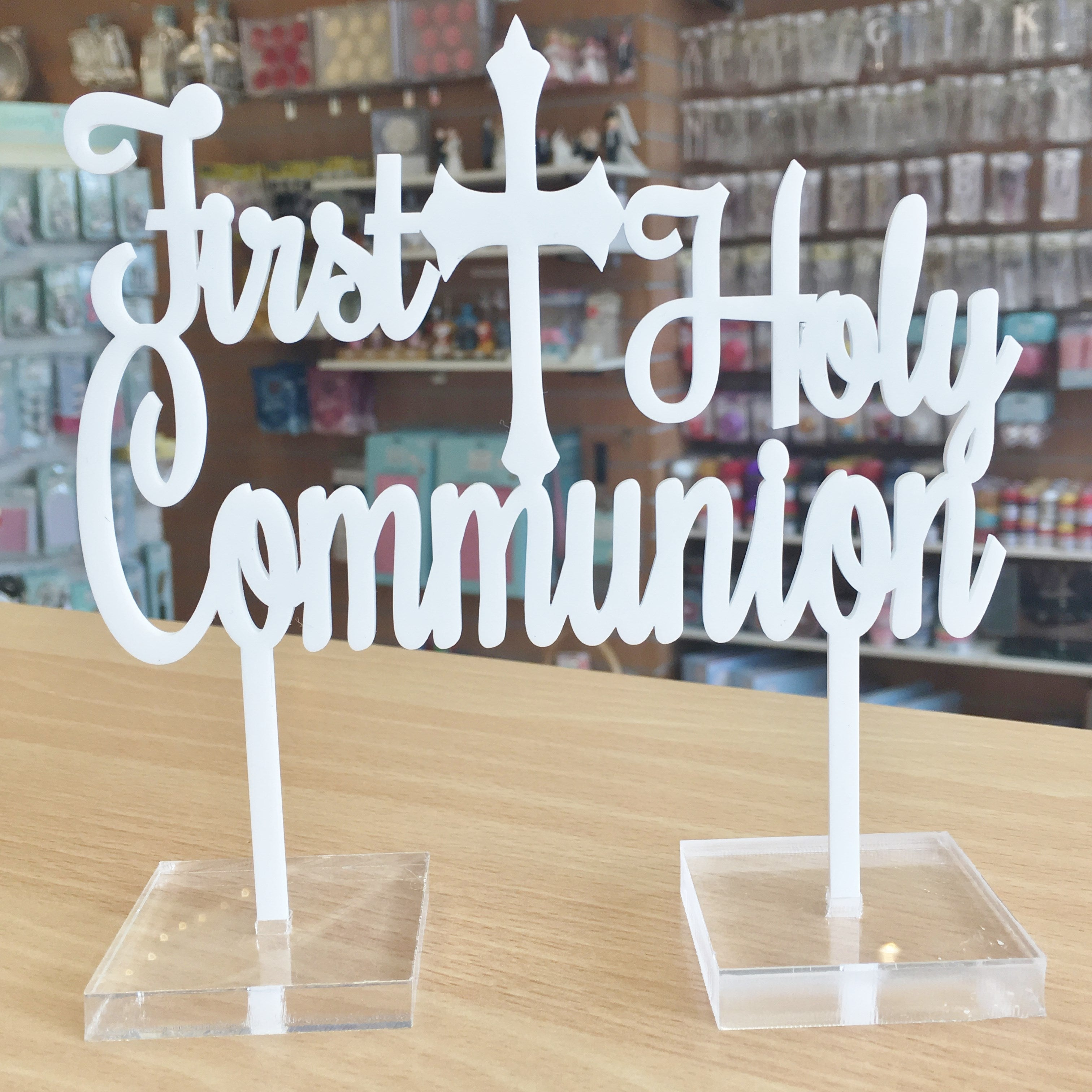 """First Holy Communion"" Acrylic Cake Topper – The Cake Guru"