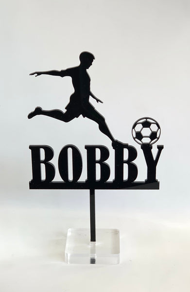 Personalised Football Player Acrylic Cake Topper