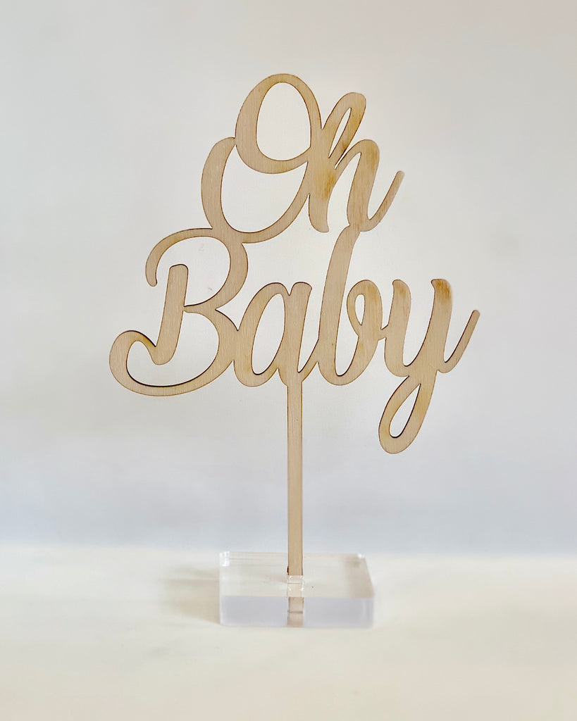 """Oh Baby"" Cake Topper"