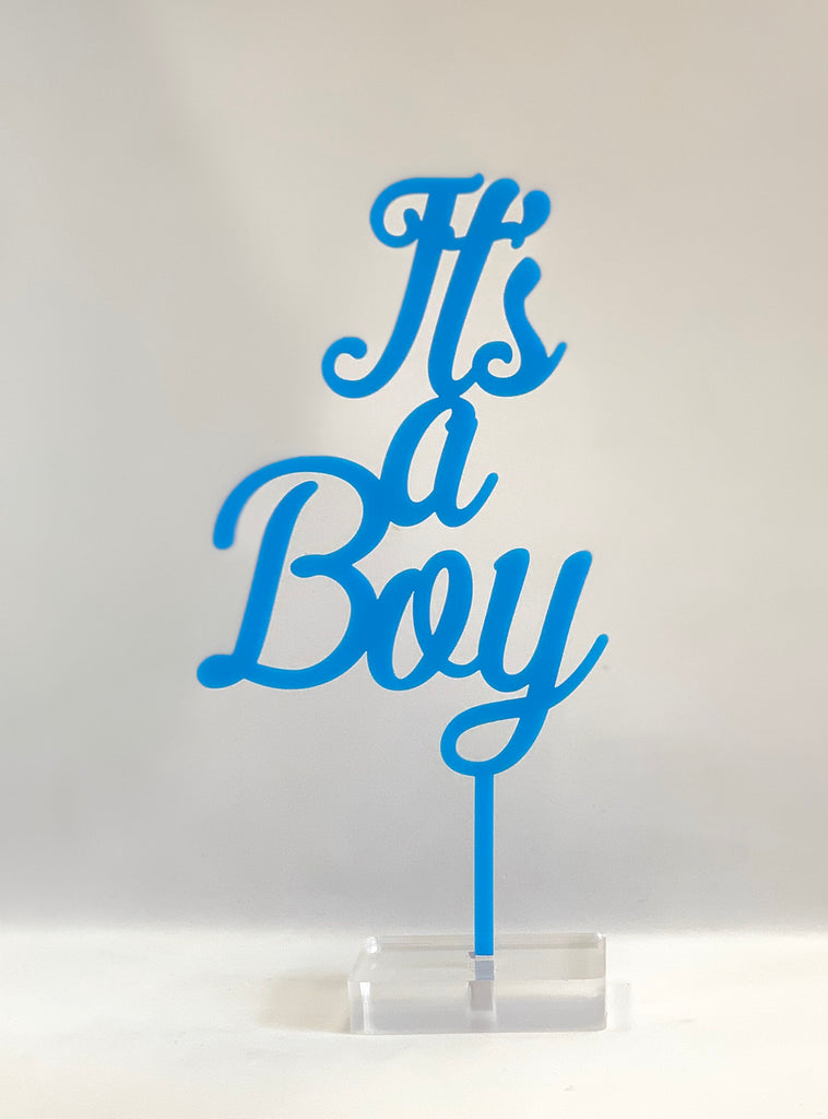 """It's a Boy"" Acrylic Cake Topper"