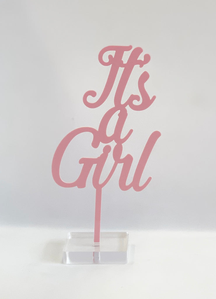 """It's a Girl"" Acrylic Cake Topper"