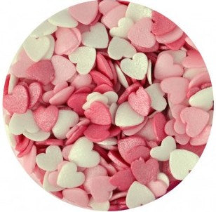 Glimmer Hearts Sprinkles - Candy Floss