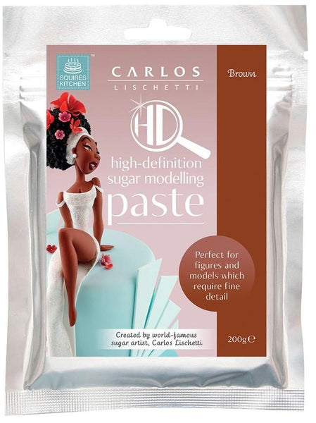 Carlos Lischetti HD Sugar Modelling Paste - Brown 200g