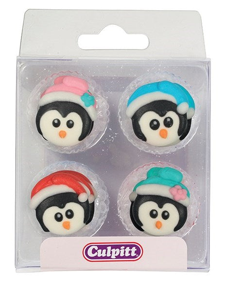 Christmas Penguins Sugar Pipings