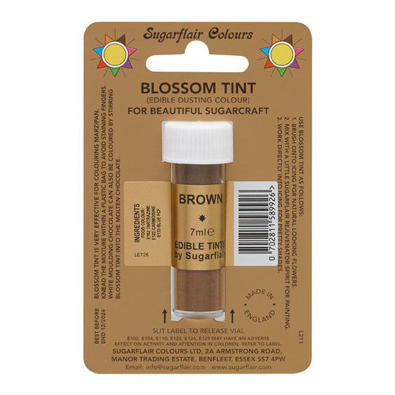 Sugarflair Blossom Tint Dusting Colours – Brown