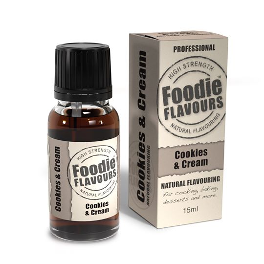 Foodie Flavours Cookies and Cream Natural Flavouring 15ml