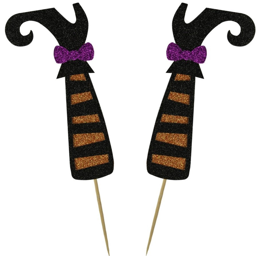 Witches Legs Cake Topper