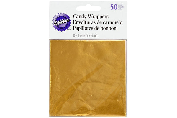 Wilton Foil Sweet Wrappers - Gold