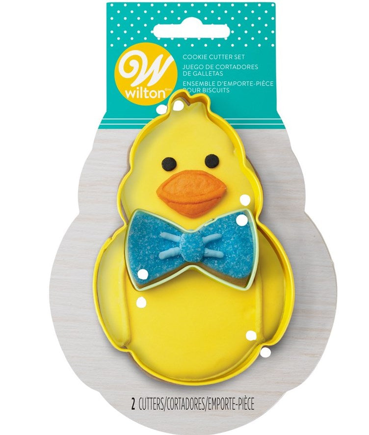 Wilton Easter Cookie Cutter Set - Chick and Bow Tie