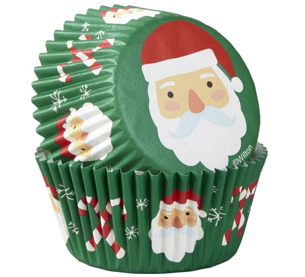 Wilton Santa and Candy Canes Cupcake Cases