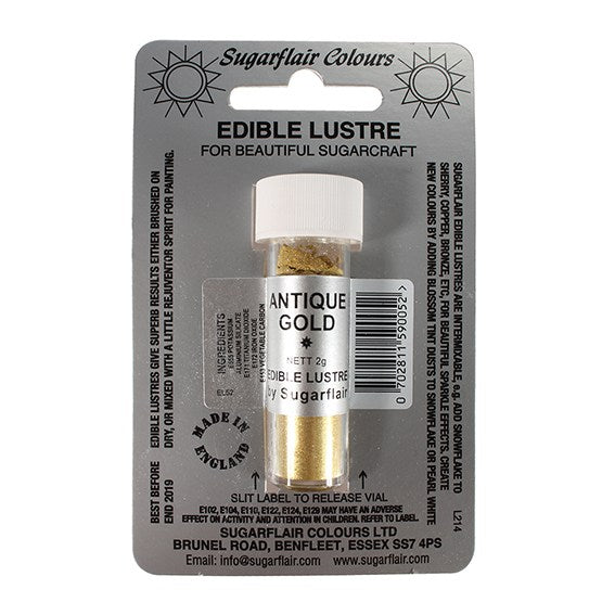 Sugarflair Edible Lustre Colour - Antique Gold