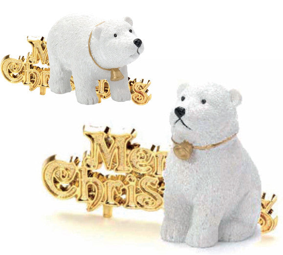 polar bear and motto christmas decoration