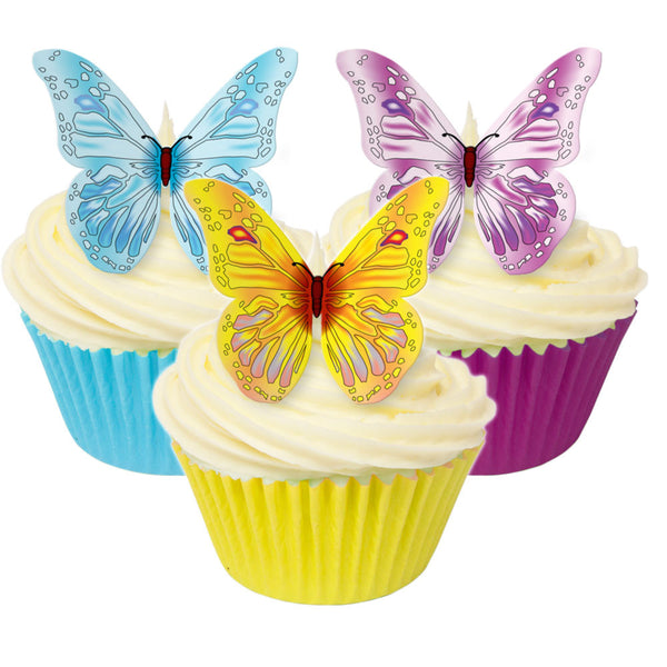 Butterflies Edible Wafer Decorations