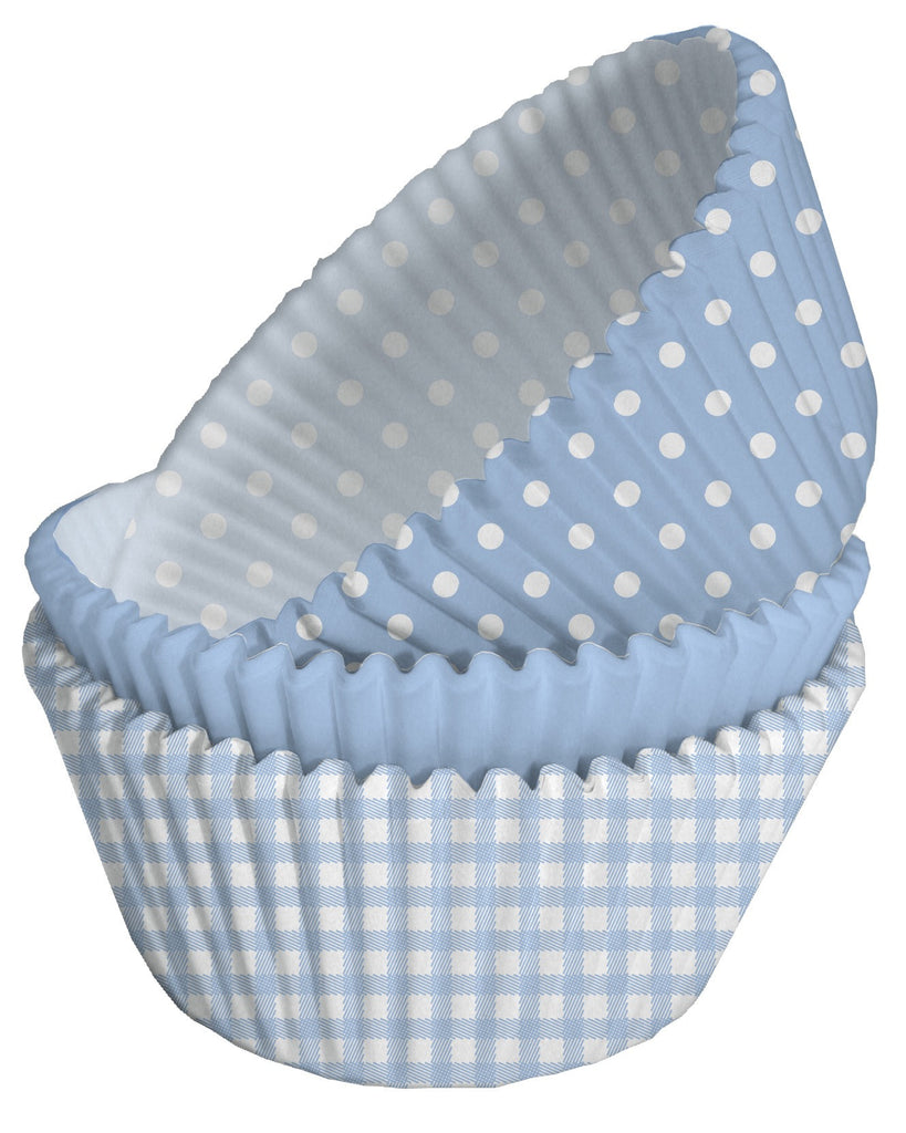 Blue Mixed Cupcake Cases
