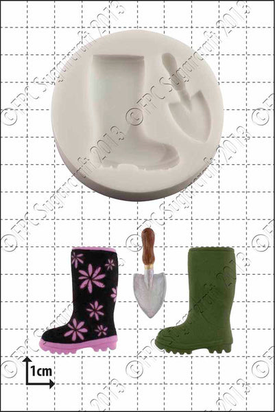 FPC 'Wellington Boot & Trowel' Silicone Mould
