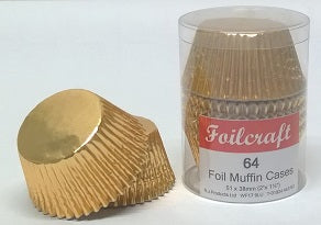 Foilcraft Gold Foil Muffin Cases