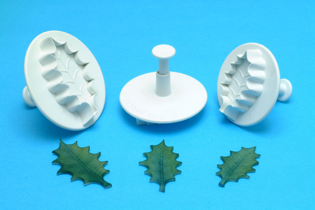 Extra Large Holly Leaf Plunger Cutters