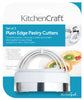 KitchenCraft Set of Three Plain Pastry Cutters with Handles