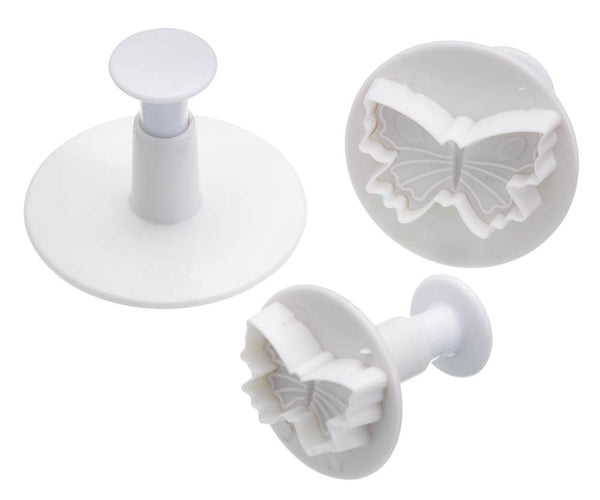 Set of 3 Butterfly Fondant Plunger Cutters