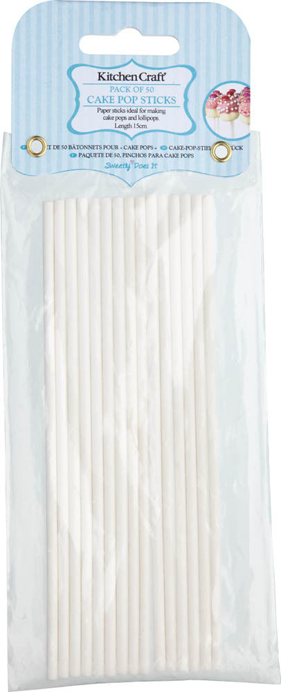 Pack of 50 Cake Pop Sticks - 15cm