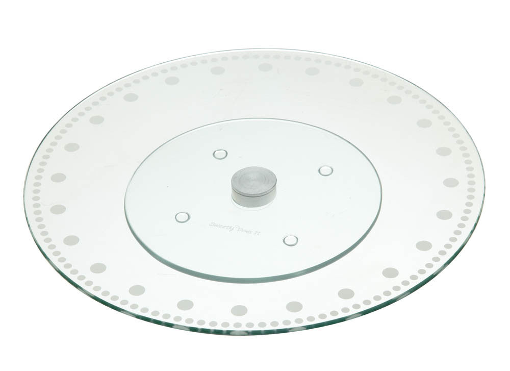 Revolving Glass Cake Stand and Turntable