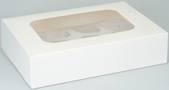Pack of 2 Cupcake Boxes - For 12 cupcakes