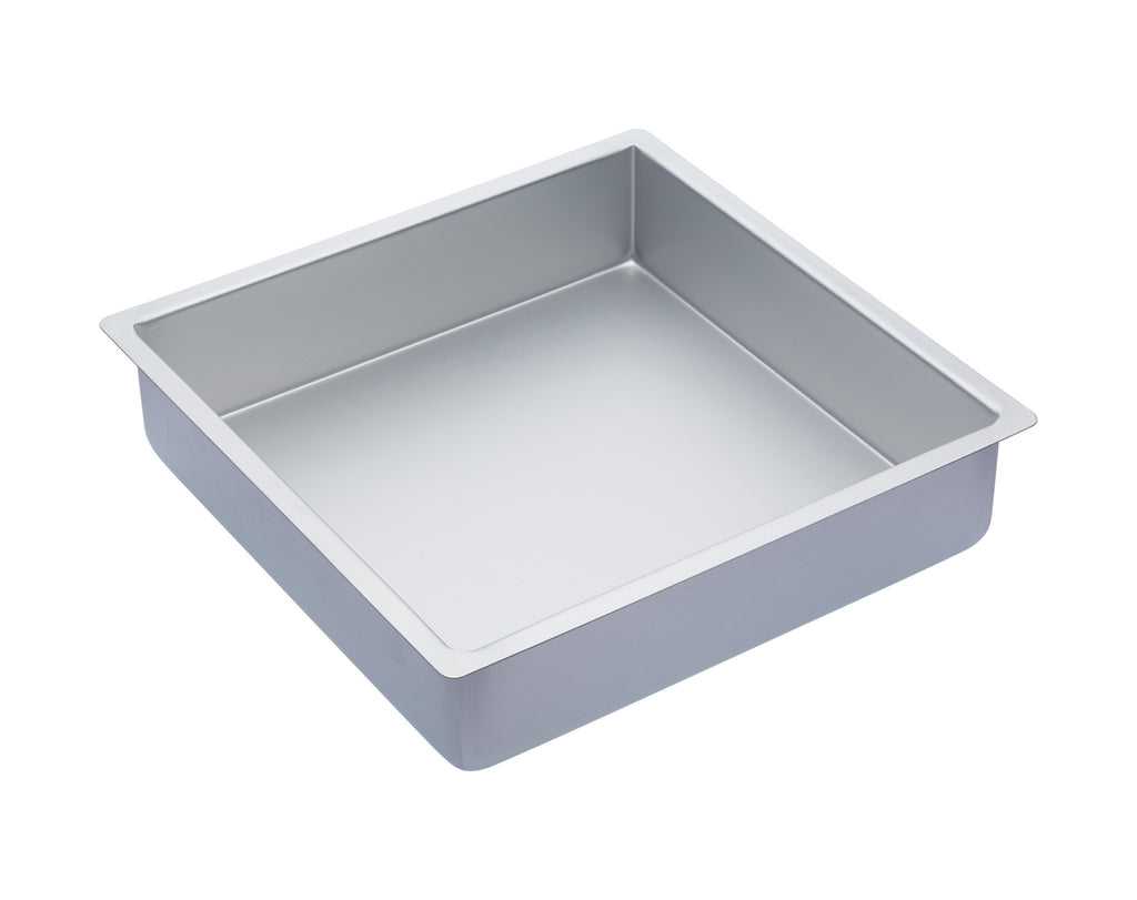 "Master Class Silver Anodised 30cm/12"" Square Deep Cake Pan"