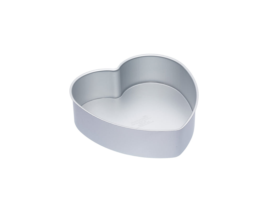 Master Class Silver Anodised 25cm Loose Based Heart Cake Pan