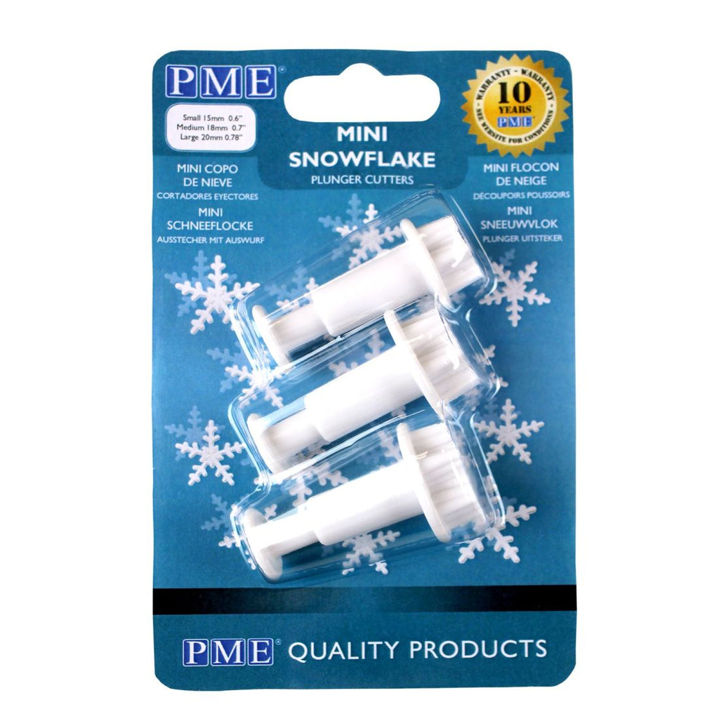 PME Mini Snowflake Plunger Cutters