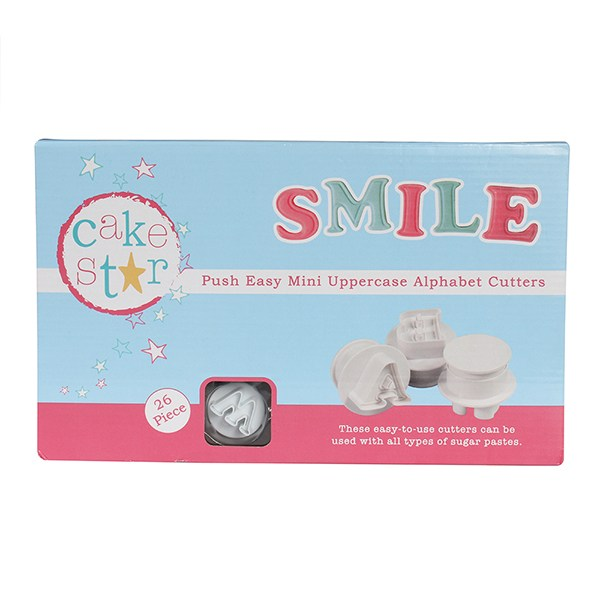 Cake Star Push Easy Mini Cutters - Upper Case Alphabet Set 26 Piece