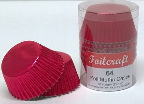 Foilcraft Red Foil Muffin Cases