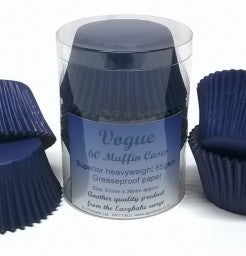 Navy Blue Muffin Cases