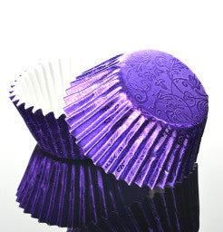 Purple Foil Muffin Cases